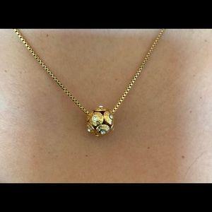 Henri Bendel Rose Gold Rivet Charm Necklace